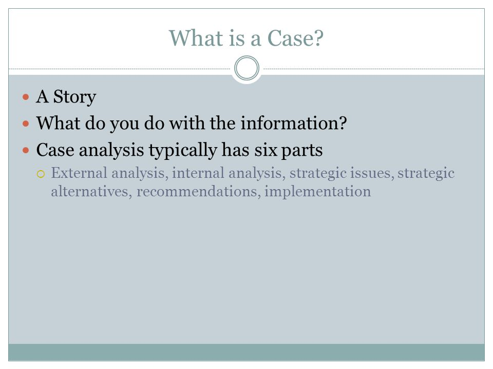 What is a Case A Story What do you do with the information