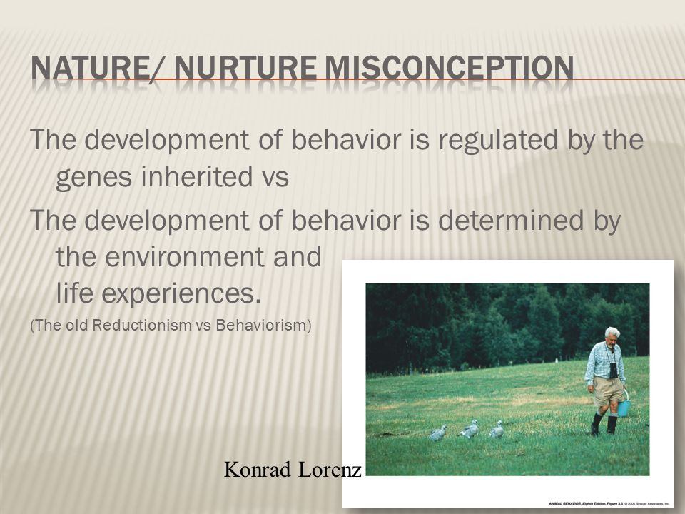 Nature/ Nurture Misconception