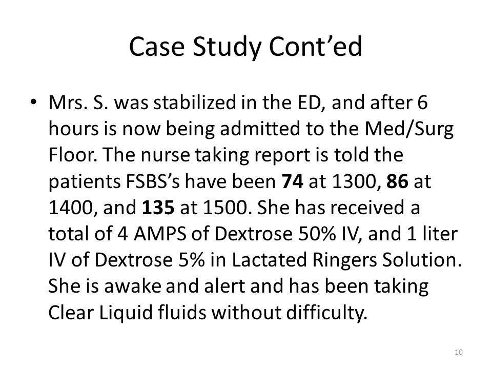 Case Study Cont'ed