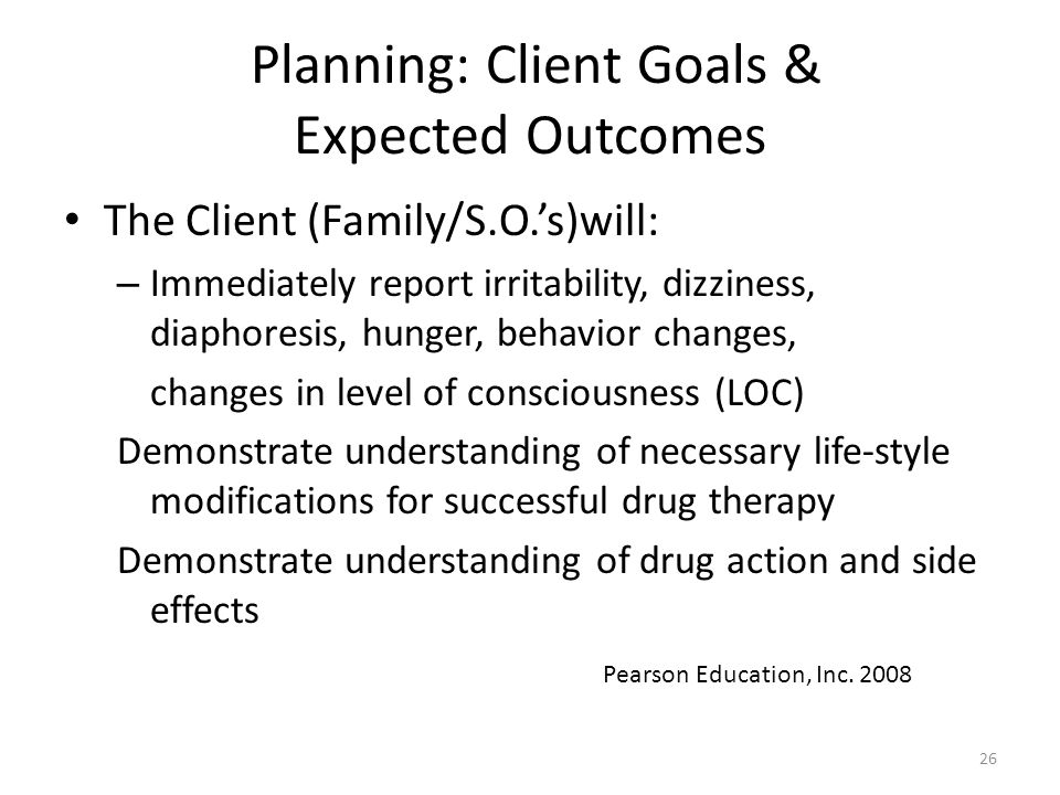 Planning: Client Goals & Expected Outcomes