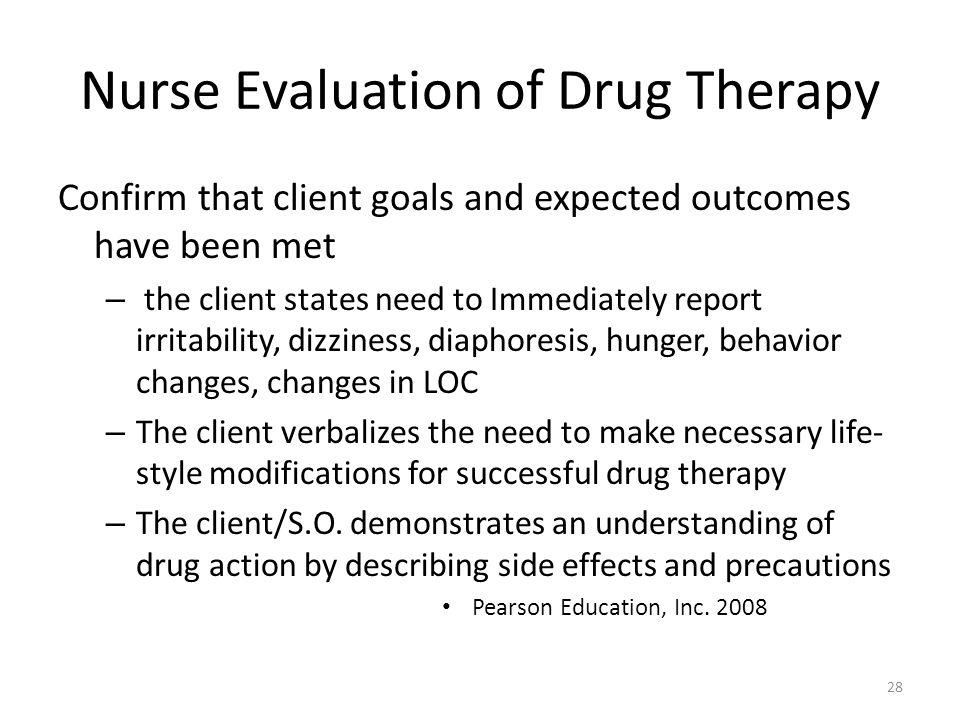 Nurse Evaluation of Drug Therapy