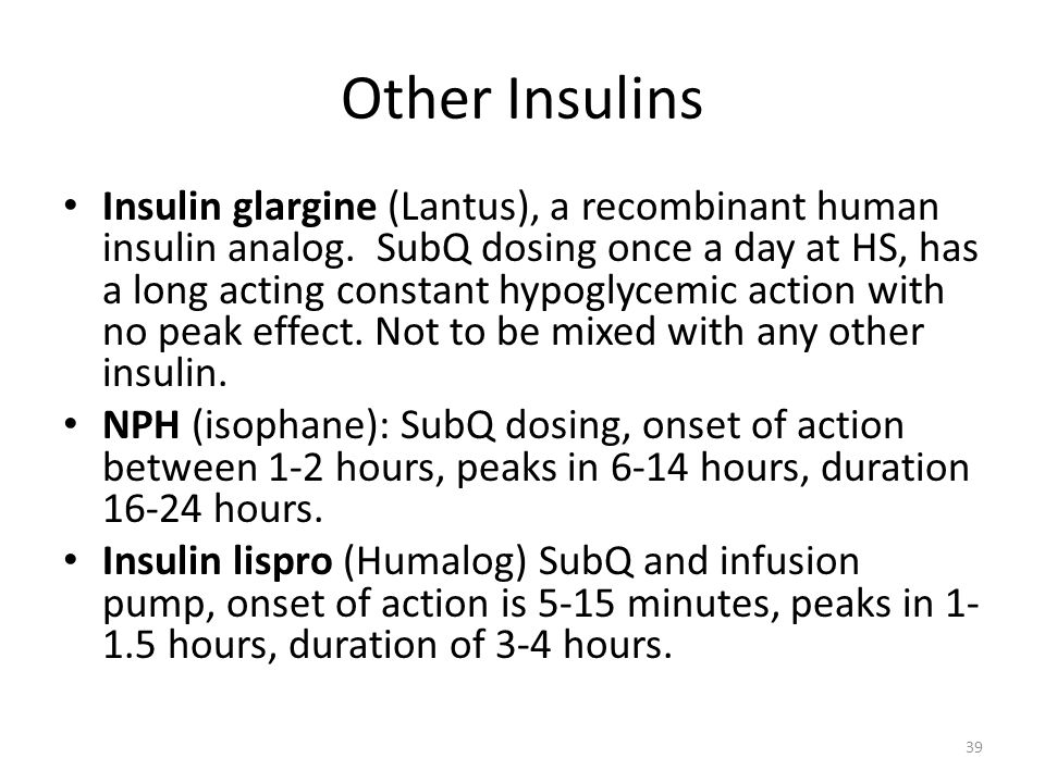 Other Insulins