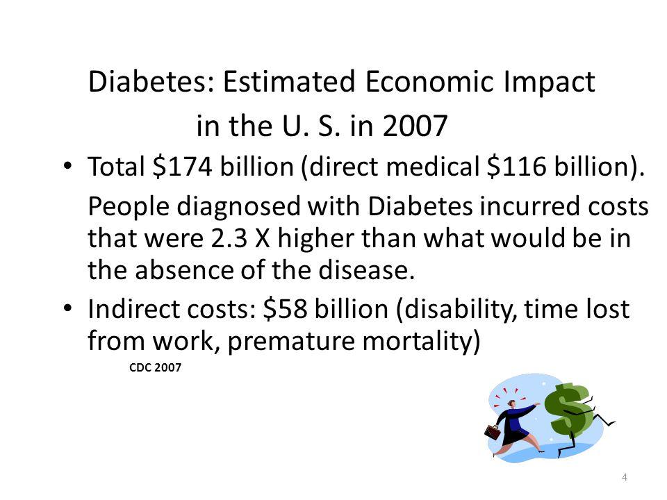Diabetes: Estimated Economic Impact in the U. S. in 2007