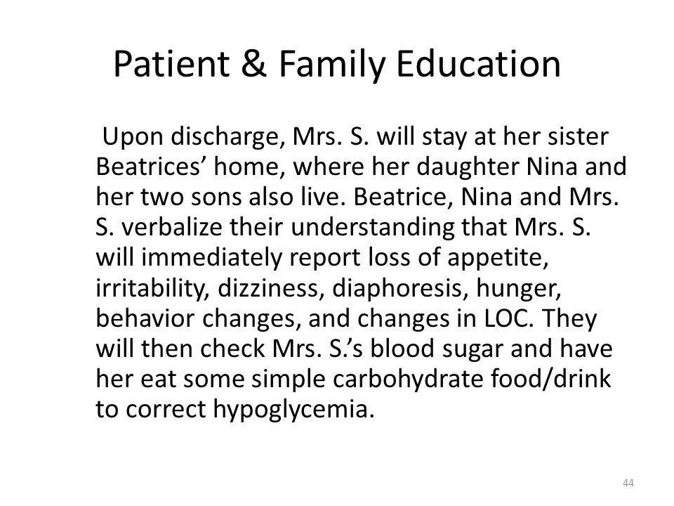 Patient & Family Education