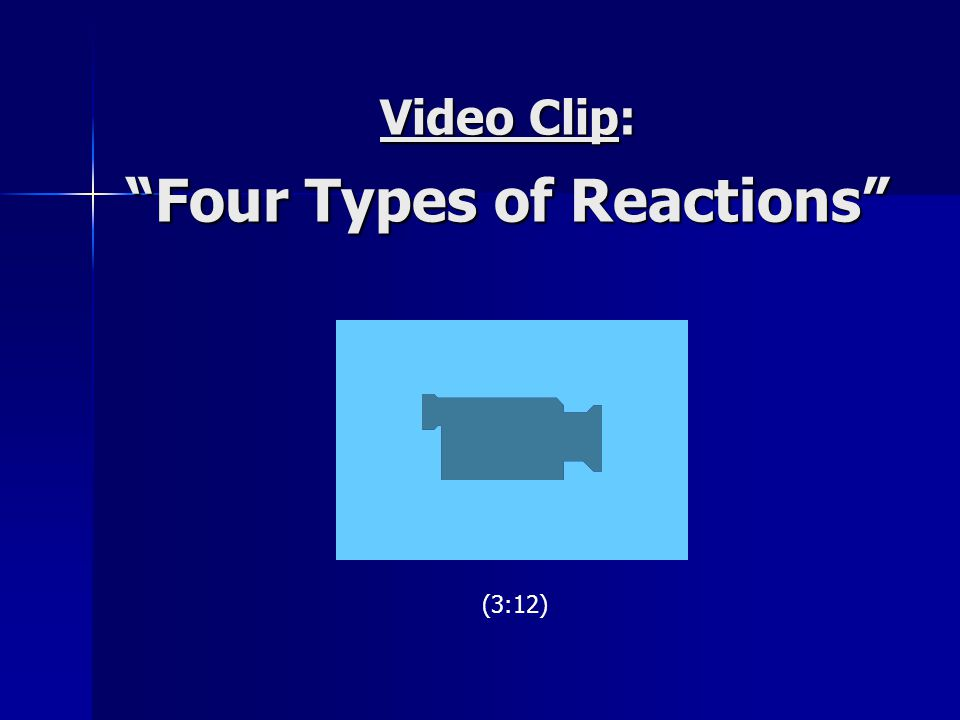 Video Clip: Four Types of Reactions