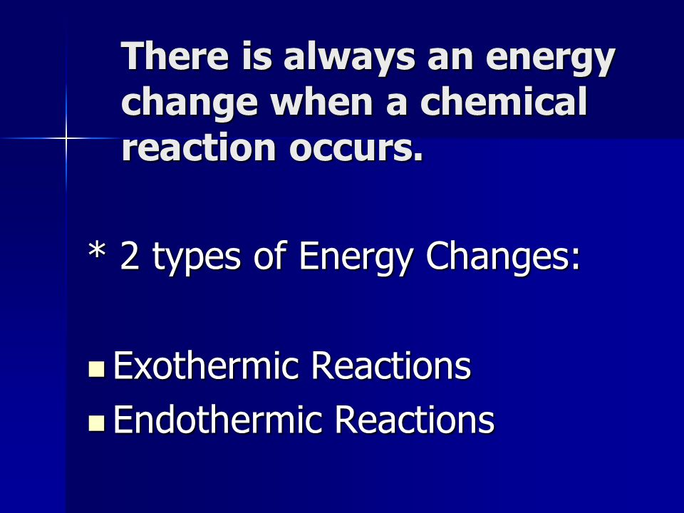 There is always an energy change when a chemical reaction occurs.
