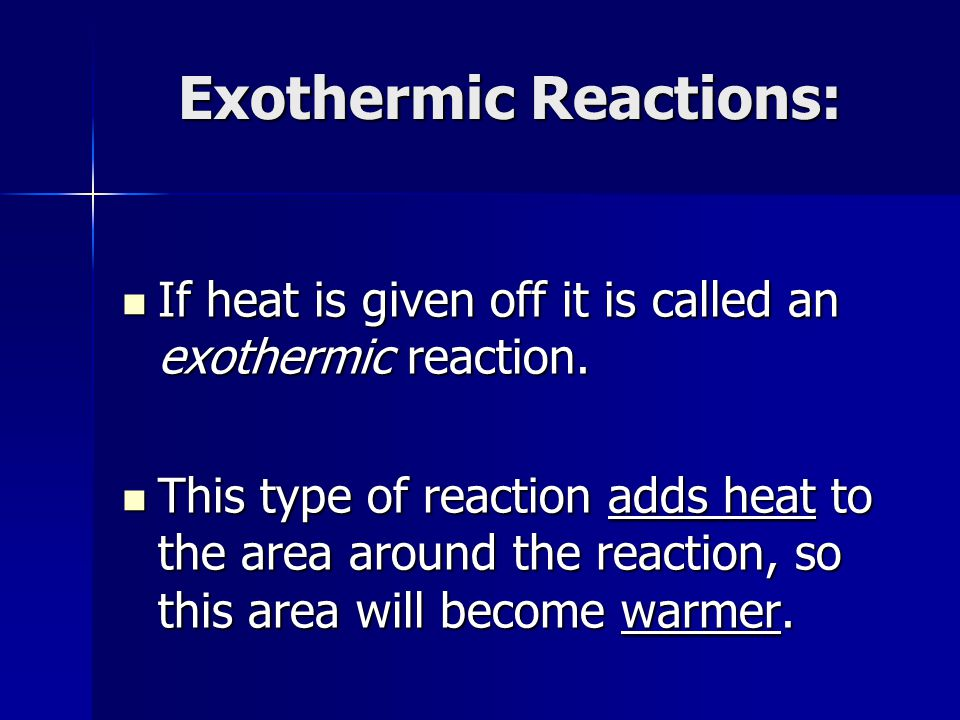 Exothermic reaction essay