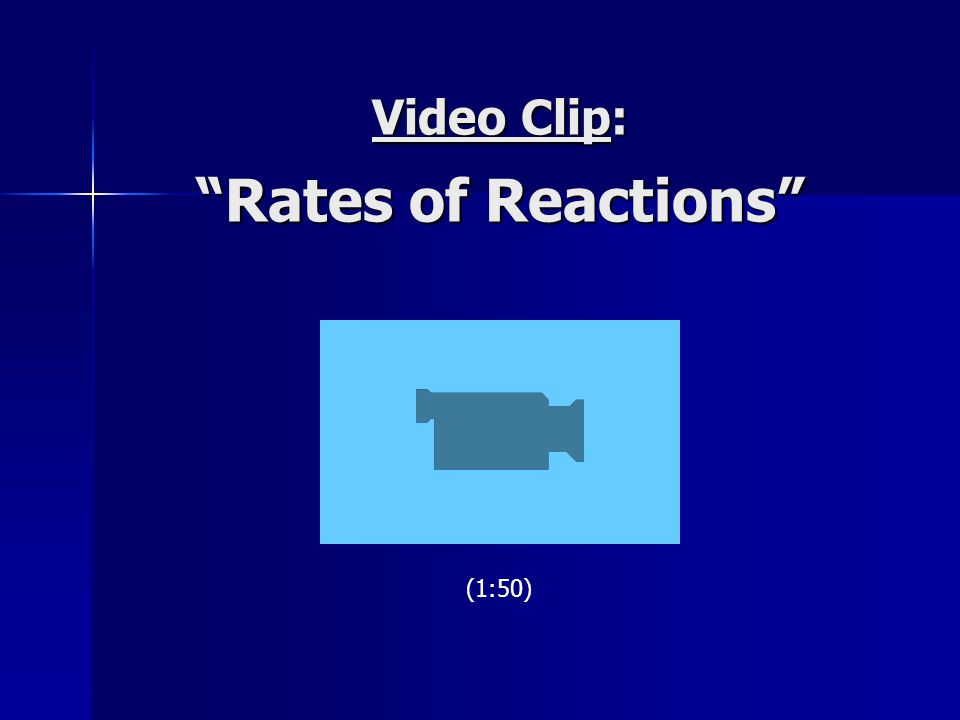 Video Clip: Rates of Reactions