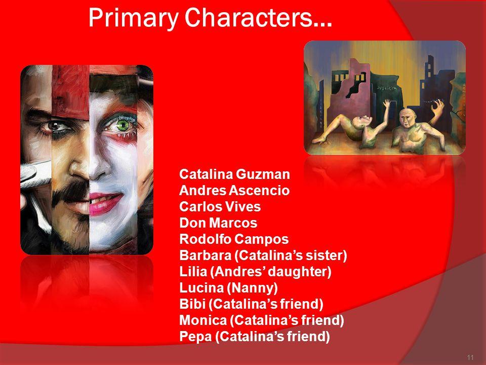 Primary Characters… Catalina Guzman Andres Ascencio
