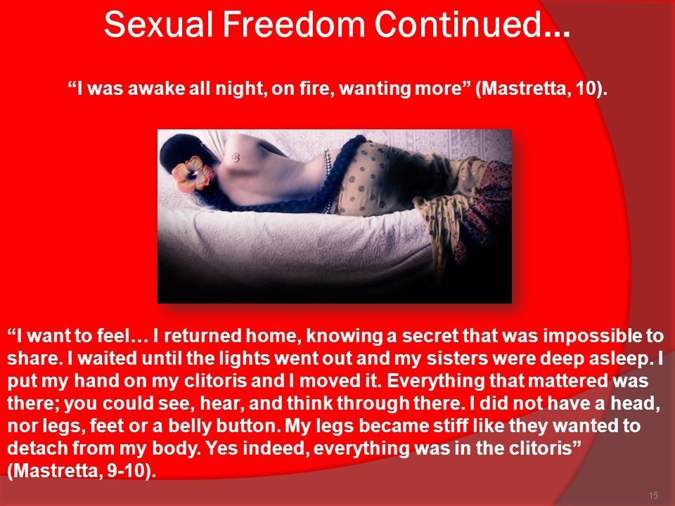 Sexual Freedom Continued…