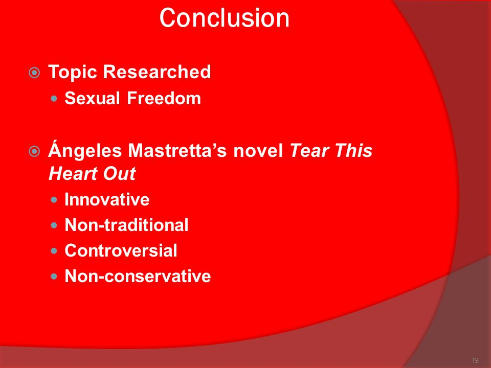 Conclusion Topic Researched