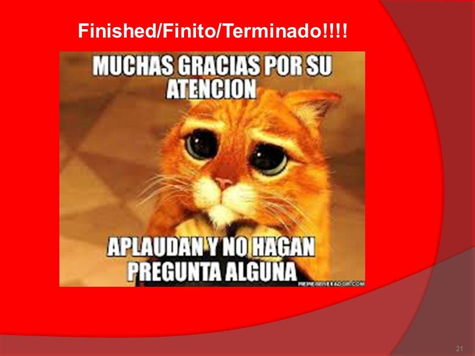 Finished/Finito/Terminado!!!!