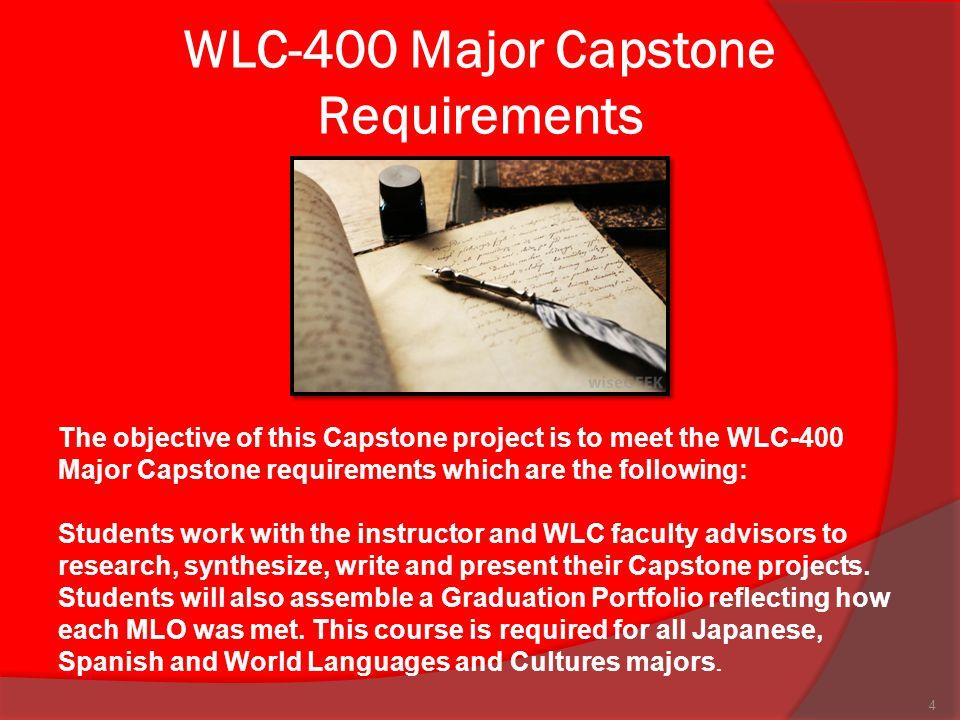 WLC-400 Major Capstone Requirements