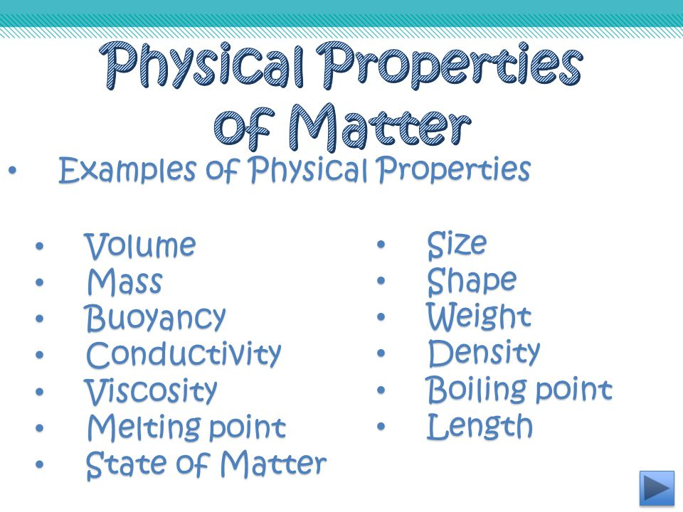 Essential Questions What characteristics identify a ... What Are Some Examples Of Physical Properties