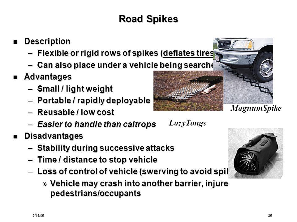 Road Spikes Description
