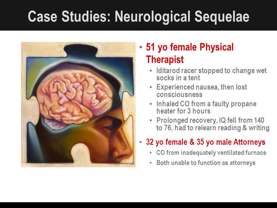 Case Studies: Neurological Sequelae
