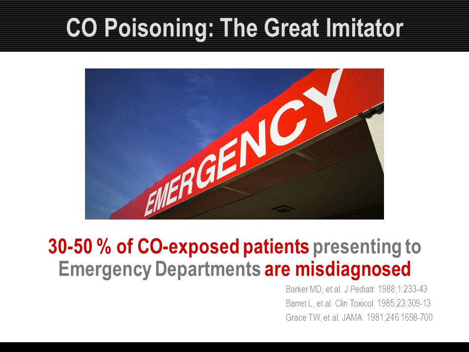CO Poisoning: The Great Imitator