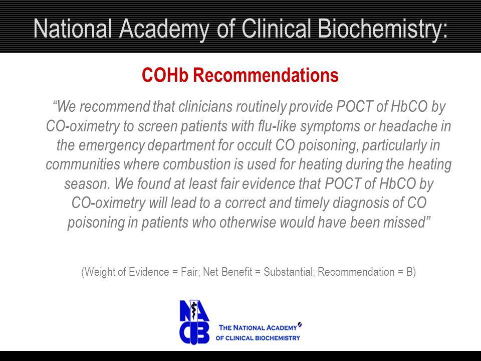 National Academy of Clinical Biochemistry: