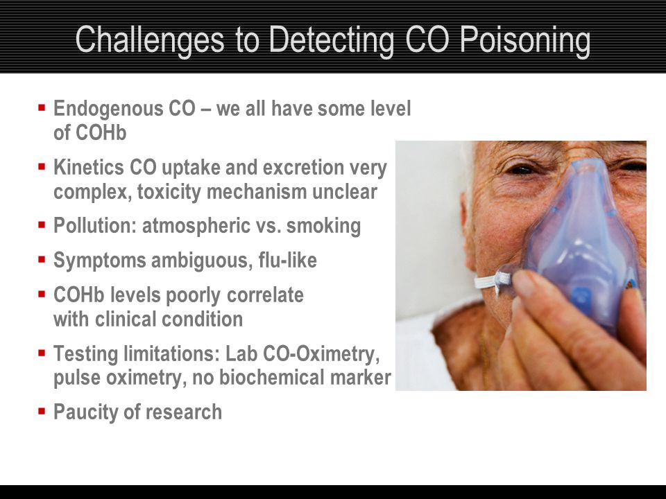 Challenges to Detecting CO Poisoning