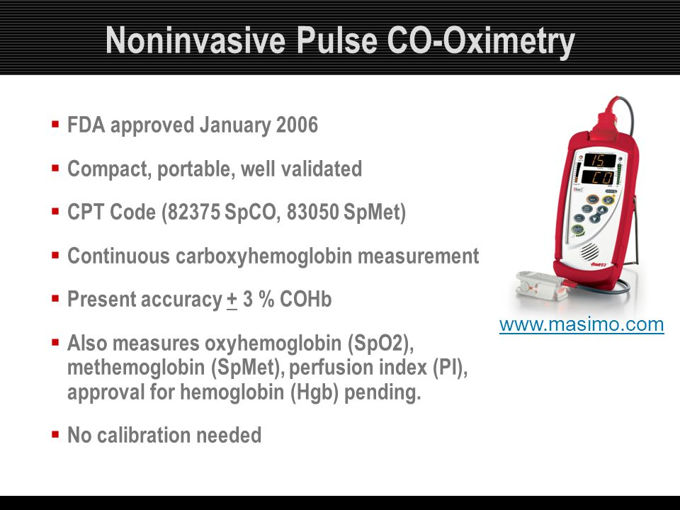 Noninvasive Pulse CO-Oximetry