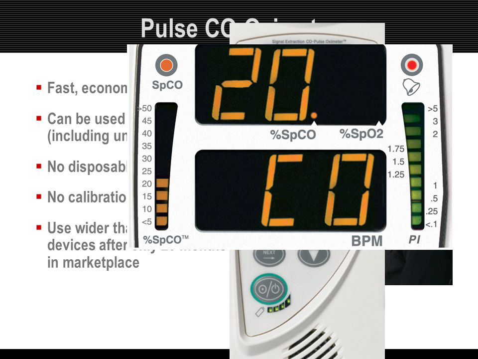 Pulse CO-Oximetry Fast, economical