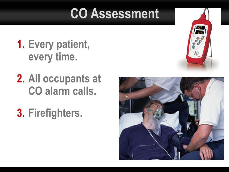 CO Assessment Every patient, every time.