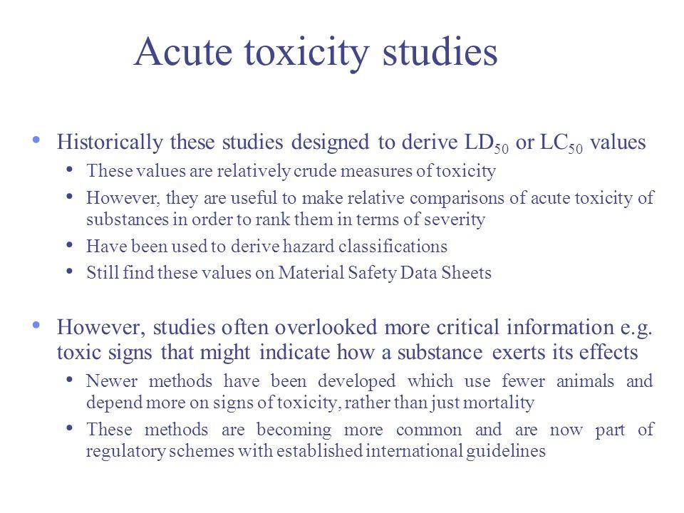 Acute toxicity studies