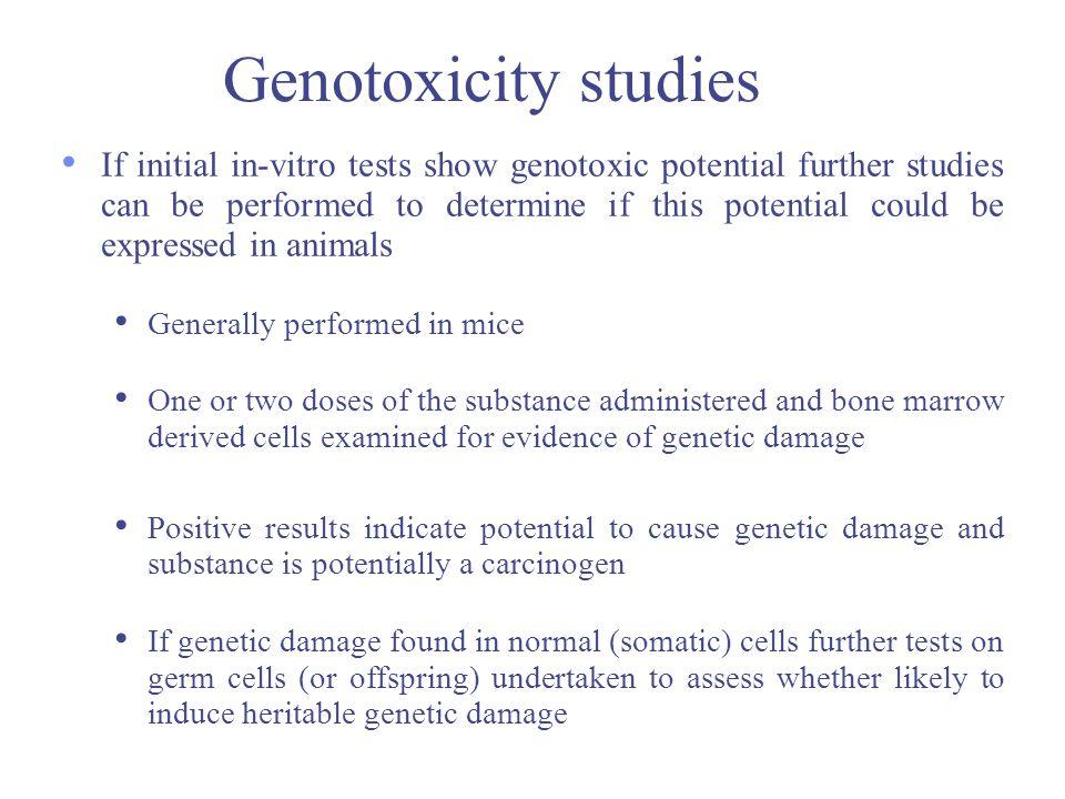 Genotoxicity studies