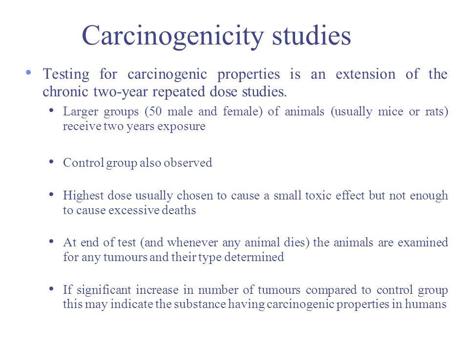 Carcinogenicity studies