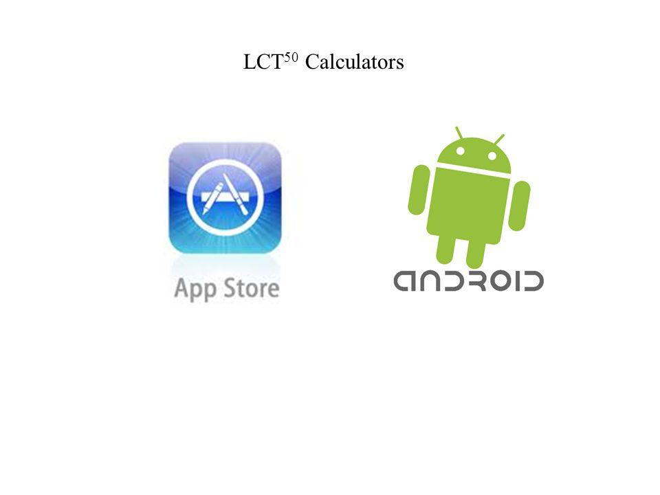 LCT50 Calculators