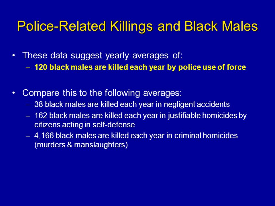 Police-Related Killings and Black Males