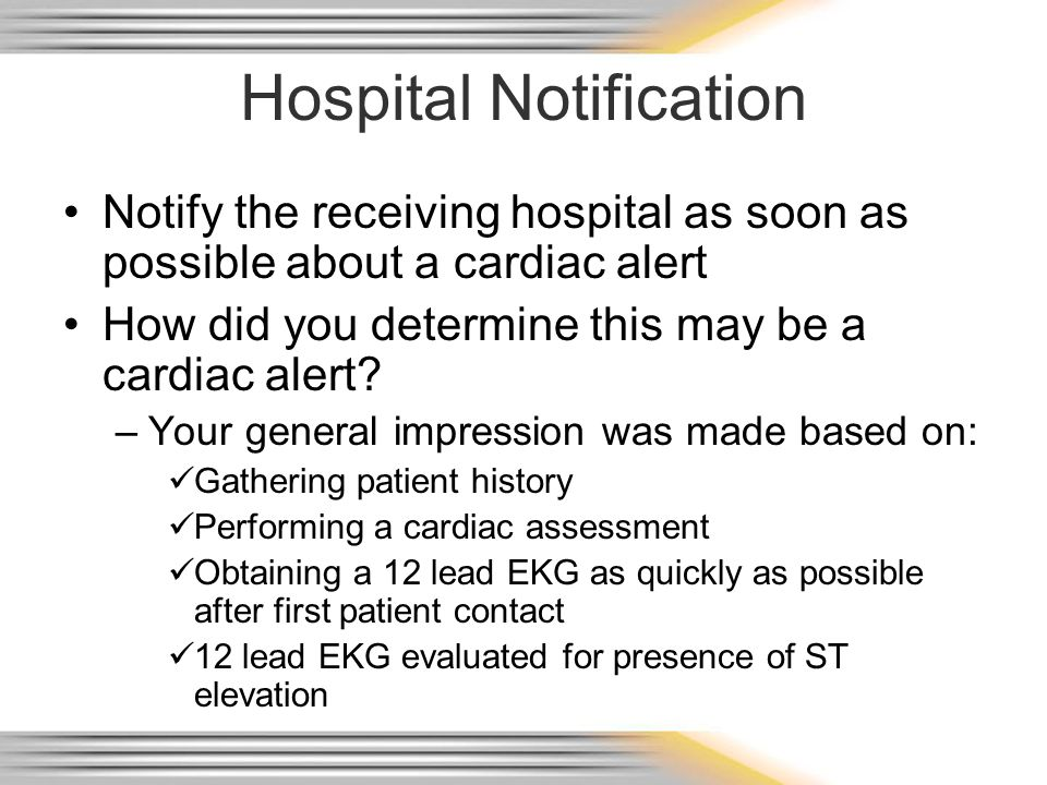 Hospital Notification