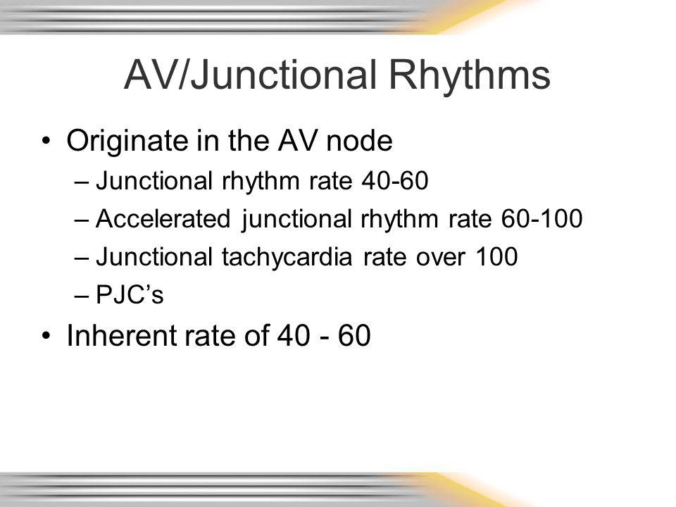 AV/Junctional Rhythms