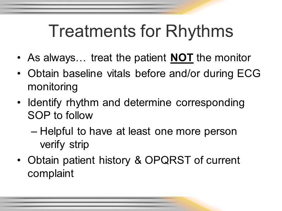 Treatments for Rhythms