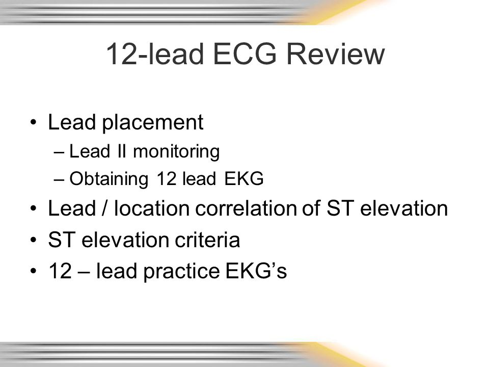 12-lead ECG Review Lead placement