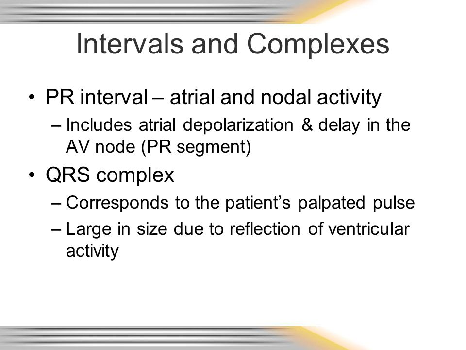 Intervals and Complexes