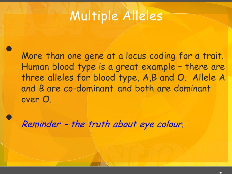 Multiple Alleles 03/06/11.