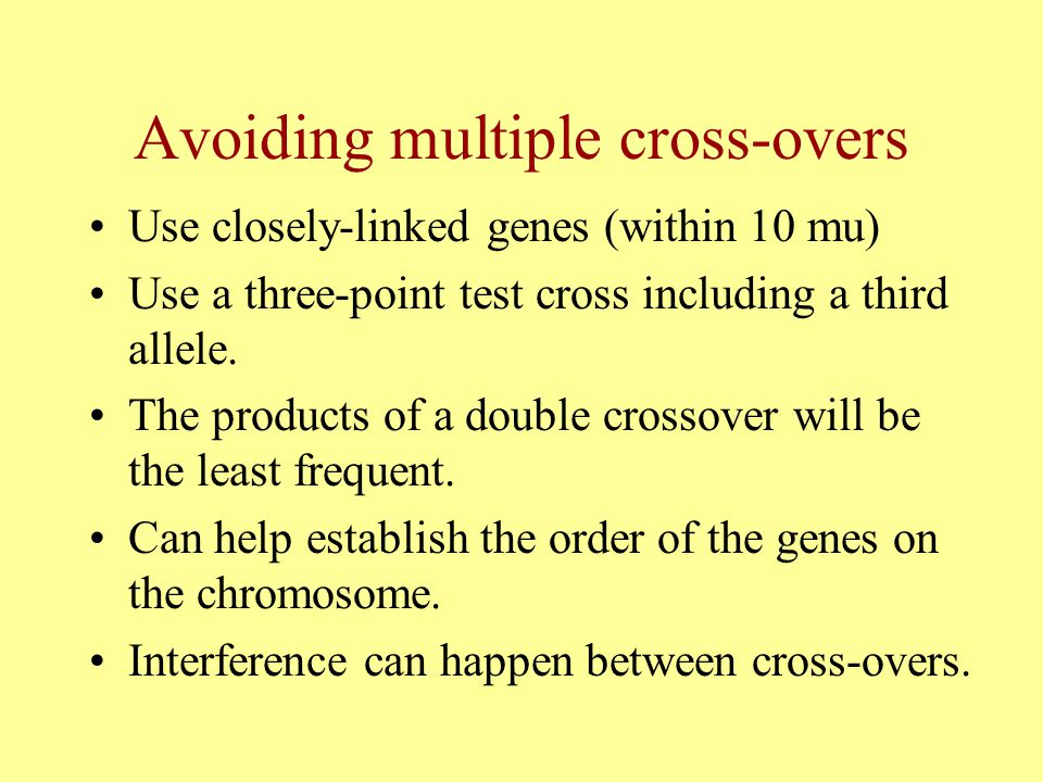 Avoiding multiple cross-overs