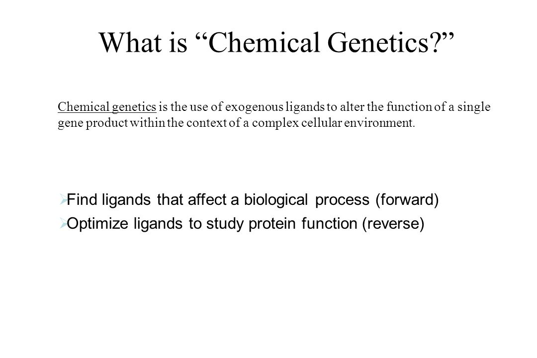 What is Chemical Genetics
