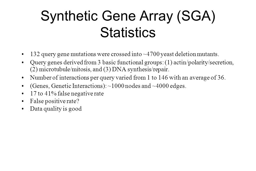 Synthetic Gene Array (SGA) Statistics