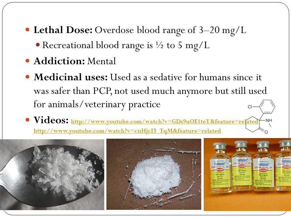 Lethal Dose: Overdose blood range of 3–20 mg/L