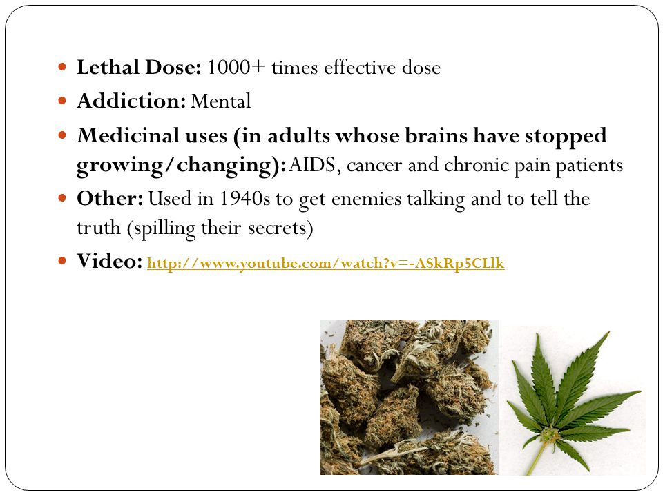 Lethal Dose: 1000+ times effective dose
