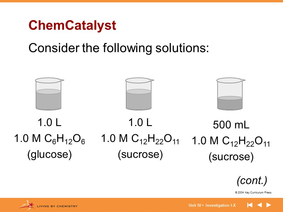 ChemCatalyst Consider the following solutions: 1.0 L 1.0 M C6H12O6
