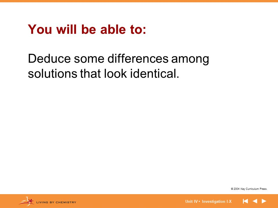 You will be able to: Deduce some differences among solutions that look identical.