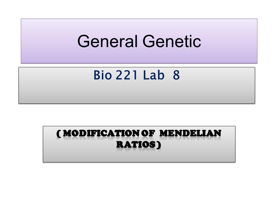 ( Modification of Mendelian ratios )