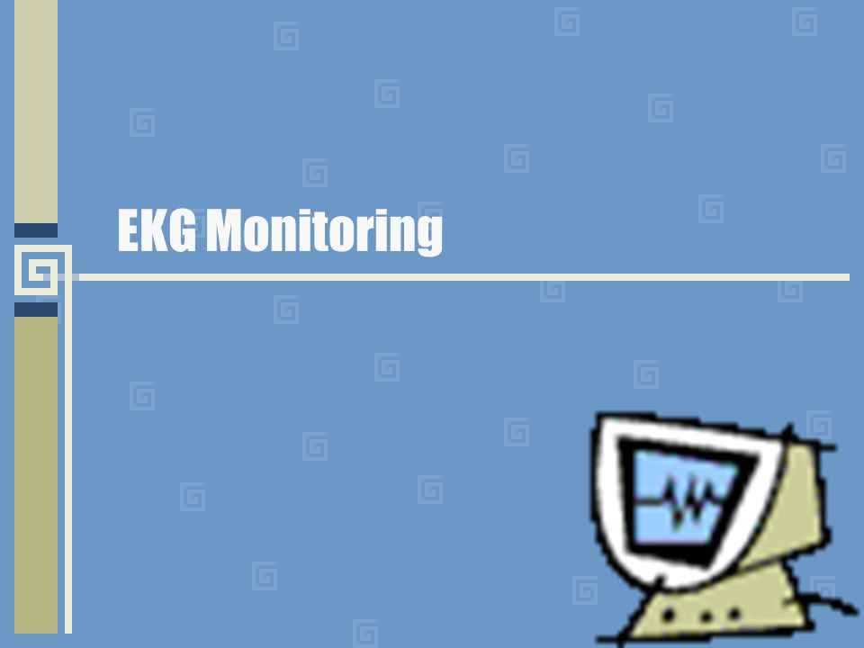 ekg monitoring. - ppt download, Powerpoint templates