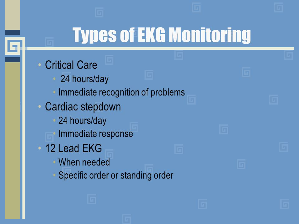 Types of EKG Monitoring