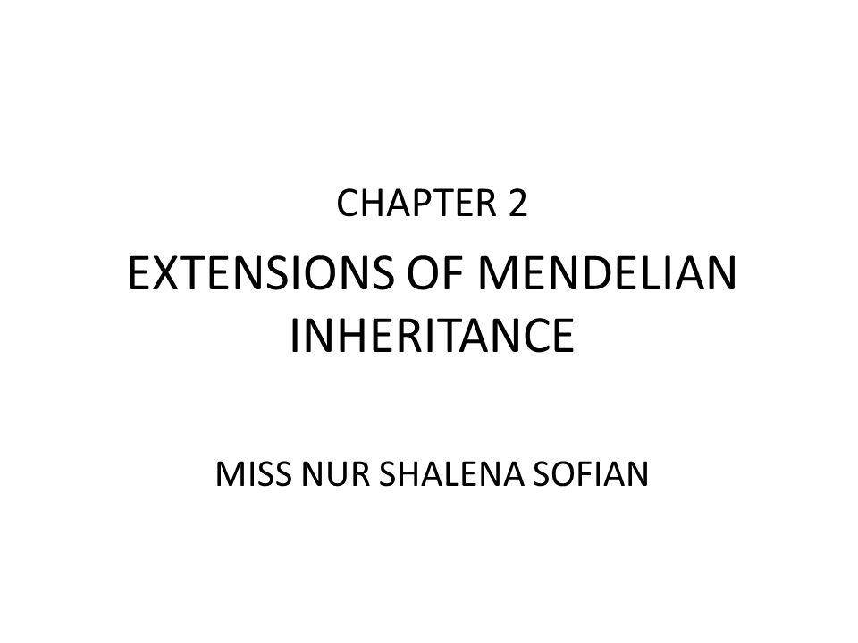 EXTENSIONS OF MENDELIAN INHERITANCE