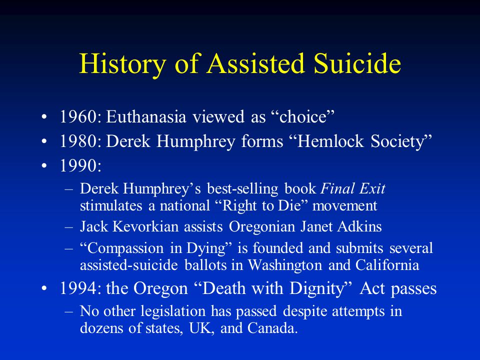 History of Assisted Suicide