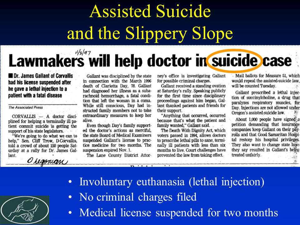Assisted Suicide and the Slippery Slope